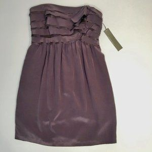 Mint Collection Purple Strapless Dress | 6